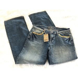 Machine Jeans with Gold Sequin Accents